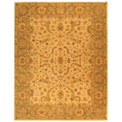 Dunbar Hand-Woven Wool Ivory/Brown Area Rug Rug Size: Rectangle 96 x 136