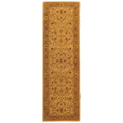 Dunbar Hand-Woven Wool Ivory/Brown Area Rug Rug Size: Runner 23 x 10