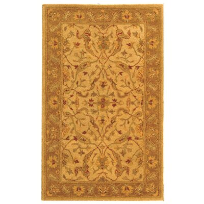 Dunbar Hand-Woven Wool Ivory/Brown Area Rug Rug Size: Rectangle 4 x 6