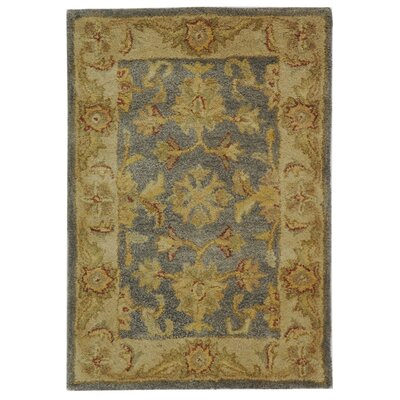 Dunbar Blue/Beige Area Rug Rug Size: Rectangle 2 x 3