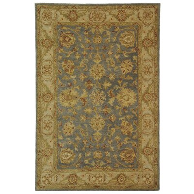 Dunbar Blue/Beige Area Rug Rug Size: Rectangle 4 x 6