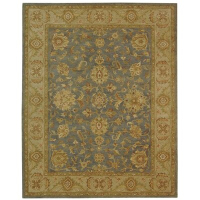 Dunbar Blue/Beige Area Rug Rug Size: Rectangle 76 x 96