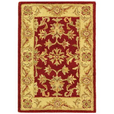 Dunbar Red/Gold Area Rug Rug Size: 2 x 3