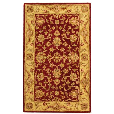 Dunbar Red/Gold Area Rug Rug Size: 3 x 5