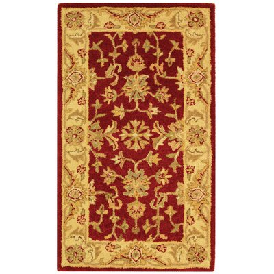 Dunbar Red/Gold Area Rug Rug Size: 23 x 4