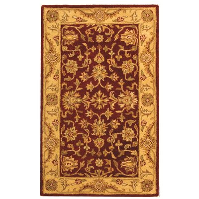 Dunbar Red/Gold Area Rug Rug Size: 4 x 6