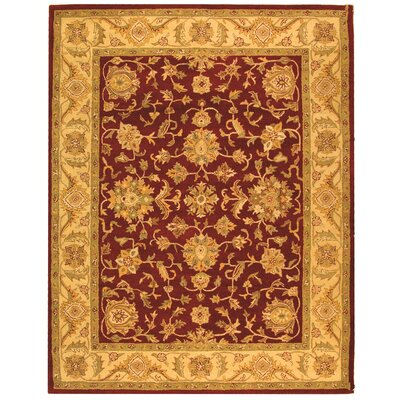 Dunbar Red/Gold Area Rug Rug Size: Rectangle 76 x 96