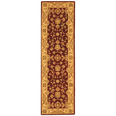 Dunbar Red/Gold Area Rug Rug Size: Runner 23 x 12