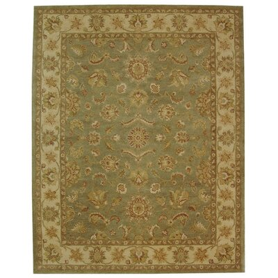 Dunbar Green/Gold Area Rug Rug Size: 11 x 17