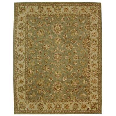 Dunbar Green/Gold Area Rug Rug Size: 96 x 136