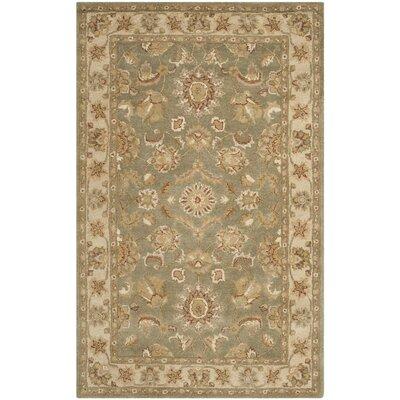 Dunbar Green/Gold Area Rug Rug Size: 6 x 9