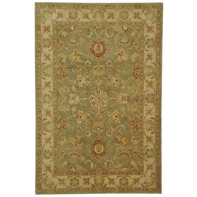 Dunbar Hand-Woven Wool Moss Green/Gold Area Rug Rug Size: Rectangle 76 x 96