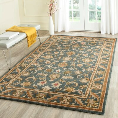 Dunbar Blue/Gold Area Rug Rug Size: Rectangle 76 x 96