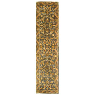 Dunbar Blue/Gold Area Rug Rug Size: Runner 23 x 10