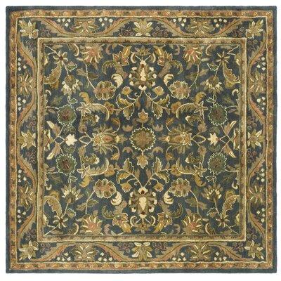 Dunbar Blue/Gold Area Rug Rug Size: Square 6