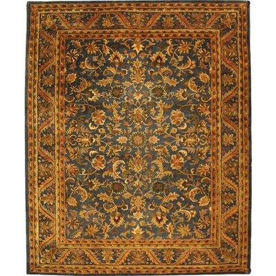Dunbar Blue/Gold Area Rug Rug Size: 96 x 136
