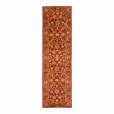 Dunbar Red Area Rug Rug Size: Runner 23 x 8