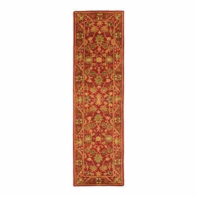 Dunbar Red Area Rug Rug Size: Runner 23 x 12