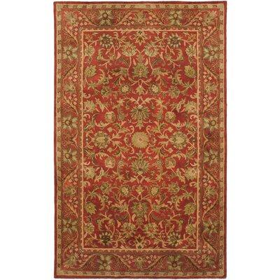 Dunbar Red Area Rug Rug Size: 96 x 136