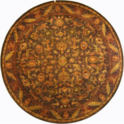 Dunbar Charcoal Area Rug Rug Size: Round 8