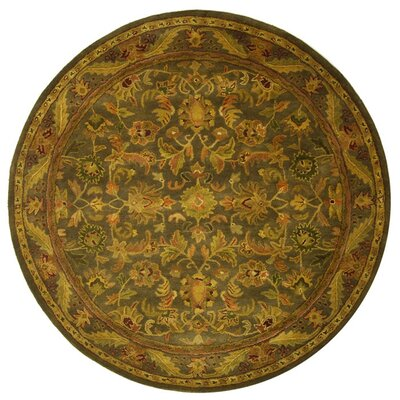 Dunbar Charcoal Area Rug Rug Size: Round 6