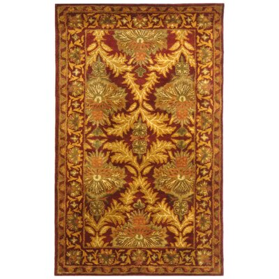 Dunbar Wine/Gold Area Rug Rug Size: Rectangle 4 x 6