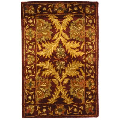 Dunbar Wine/Gold Area Rug Rug Size: Rectangle 83 x 11