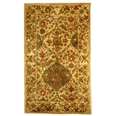 Dunbar Beige/Olive Area Rug Rug Size: Rectangle 3 x 5