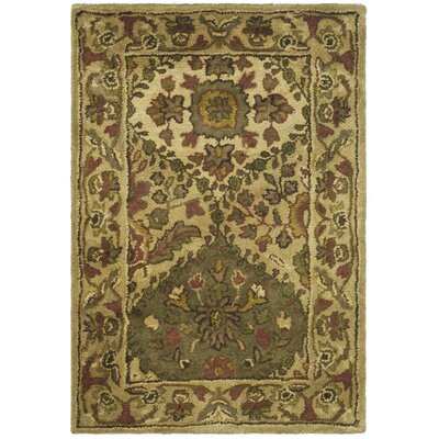 Dunbar Beige/Olive Area Rug Rug Size: Rectangle 96 x 136