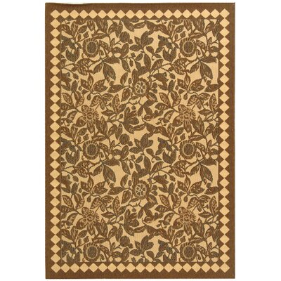 Octavius Natural Brown/Black Outdoor Rug Rug Size: Rectangle 710 x 11