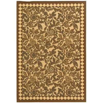 Alderman Natural Brown/Black Outdoor Rug Rug Size: 710 x 11