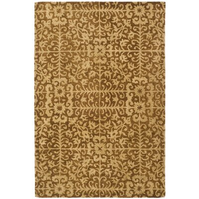 Dunbar Hand-Woven Wool Gold/Beige Area Rug Rug Size: Rectangle 3 x 5