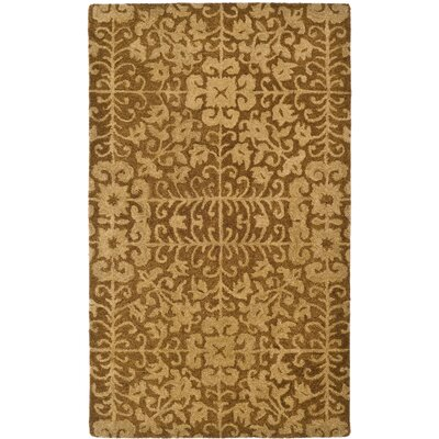 Dunbar Hand-Woven Wool Gold/Beige Area Rug Rug Size: Rectangle 23 x 4