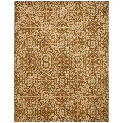 Dunbar Gold/Beige Area Rug Rug Size: 83 x 11