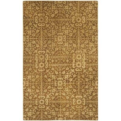 Dunbar Gold/Beige Area Rug Rug Size: 5 x 8