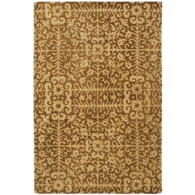 Dunbar Gold/Beige Area Rug Rug Size: 3 x 5