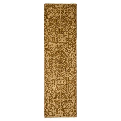 Dunbar Hand-Woven Wool Gold/Beige Area Rug Rug Size: Runner 23 x 14