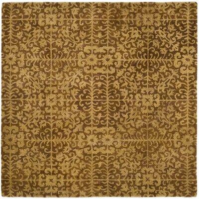 Dunbar Gold/Beige Area Rug Rug Size: Square 8