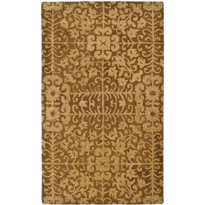 Dunbar Gold/Beige Area Rug Rug Size: 23 x 4
