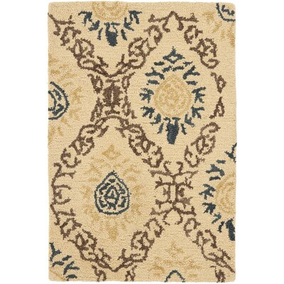 Dunbar Light Gold/Multi Area Rug Rug Size: Rectangle 2 x 3