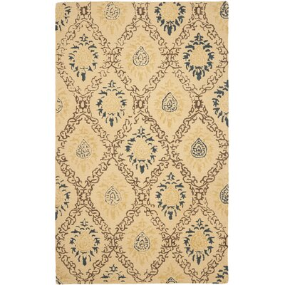 Dunbar Light Gold/Multi Area Rug Rug Size: 5 x 8