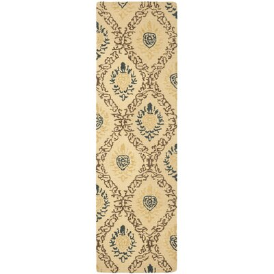 Dunbar Light Gold/Multi Area Rug Rug Size: Runner 23 x 8