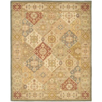 Dunbar Hand-Woven Wool Green/Beige Area Rug Rug Size: Rectangle 11 x 15