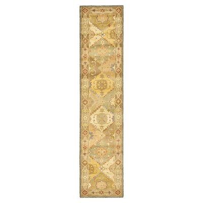 Dunbar Hand-Woven Wool Green/Beige Area Rug Rug Size: Rectangle 23 x 4