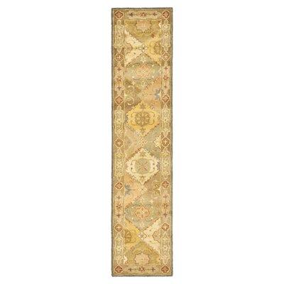 Dunbar Hand-Woven Wool Green/Beige Area Rug Rug Size: Rectangle 23 x 4