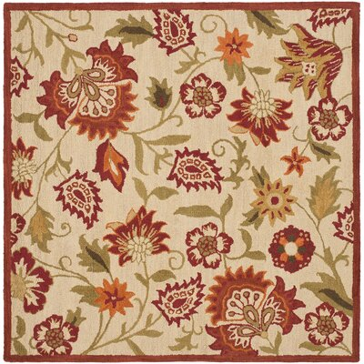Bradwood Beige/Multi Area Rug Rug Size: Square 6