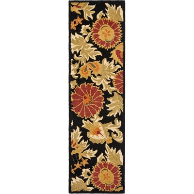 Bradwood Hand-Woven Wool Black Area Rug Rug Size: Runner 23 x 11