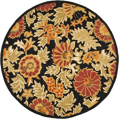 Bradwood Black/Multi Area Rug Rug Size: Round 6