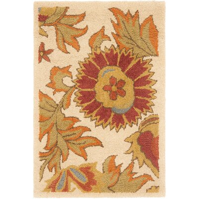 Bradwood Ivory/Red Area Rug Rug Size: 26 x 4