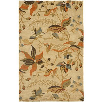 Bradwood Beige/Multi Area Rug Rug Size: Rectangle 4 x 6